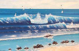 Peinture Vague Bleue