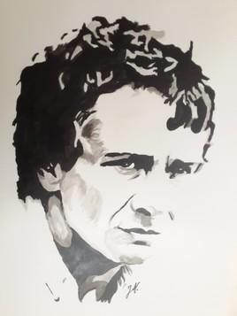 Michel Sardou (encre de chine)
