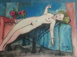 Peinture Le réveil périlleux