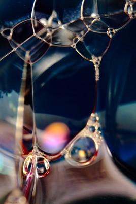 Photo Blow blue bubbles