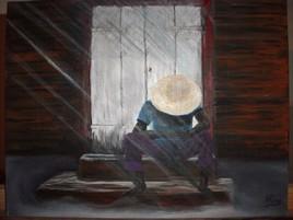 Peinture l'homme seul