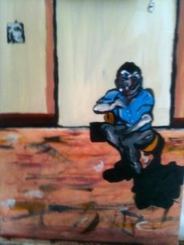 "Francis Bacon - ""Portrait of Lucian Freud Sun"""