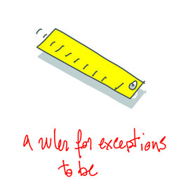 a ruler for exceptions to be