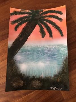 Mer et  palmier