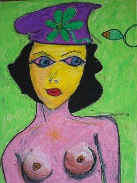 Jeune fille réservée au chapeau