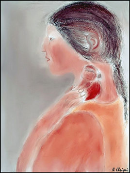 La femme au petit oiseau