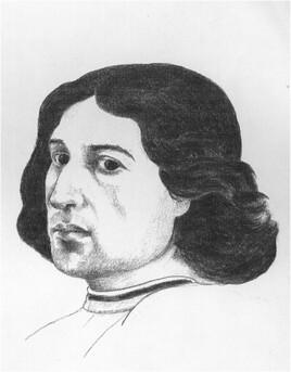 Portrait supposé de Ghirlandaio d'après une œuvre de Ghirlandaio