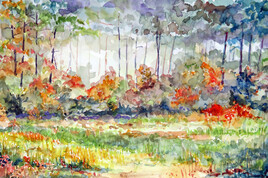 Clairière en automne