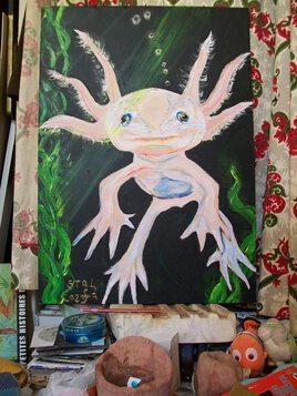 """"""" ? ... """"  ( L' axolotl qui parle ... )"""