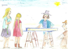 380 La vendeuse de bijoux fantaisie en bord de plage