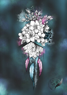 Cœur floral