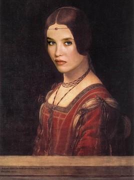 Adjani revisite La Belle Ferronnière de De Vinci..