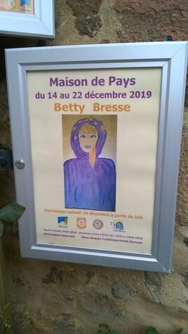 L'affiche de  mon exposition ce samedi 14 décembre
