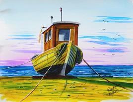 bateau sur cale