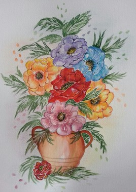 Tendre bouquet  (aquarelle 55)