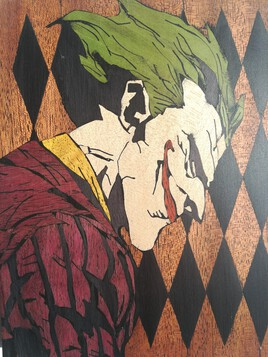 Marqueterie The Joker