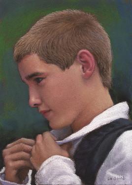 Pastel 071209 Jeune garçon breton