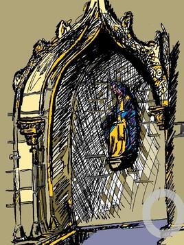 La fontaine Notre Dame du Folgoët