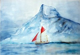 voilier dans les glaces