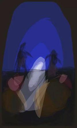Peinture danse dans la grotte