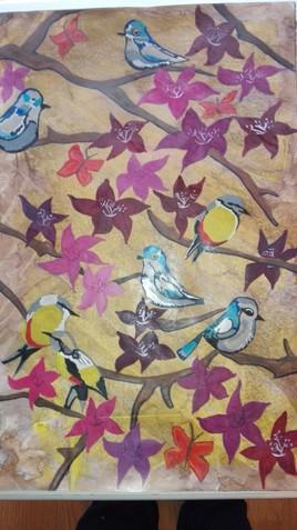 Oiseaux et fleurs