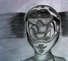 L'homme au casque
