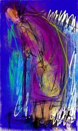 Peinture la  vieille femme 7