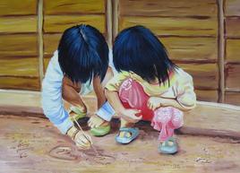 Les Enfants du Village Akha et Yao en Thailande
