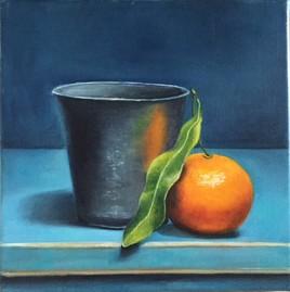 nature morte à la timbale et mandarine