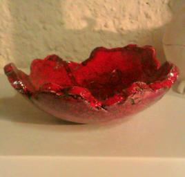 plat fleur rouge