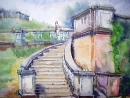 L'escalier à Peterhof