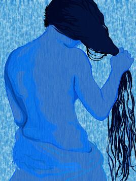 Le nue bleu