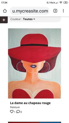 La dame au chapeau rouge