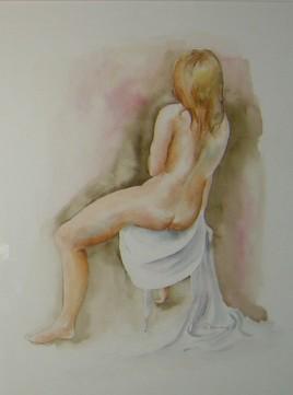 Femme nue de dos
