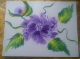 Fleur unique mauve