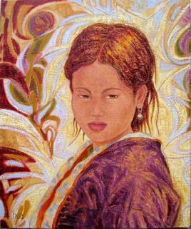 Jeune Hmong à la perle