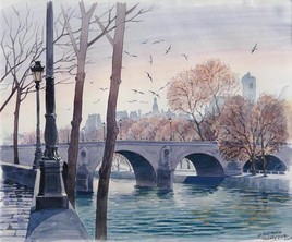 Le Pont Marie depuis l'île Saint Louis