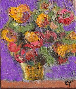 bouquet violet et jaune