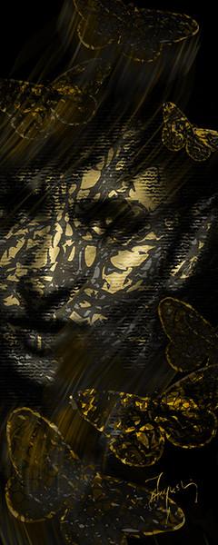 Autre Barbara, portrait aux papillons