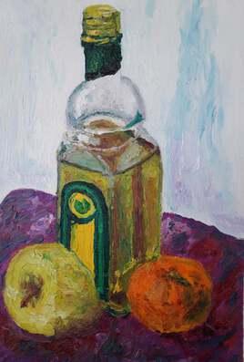 la bouteille d'huile