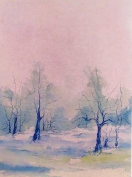 Forêt au crépuscule