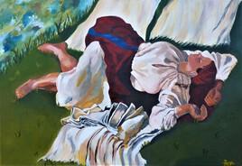 """La sieste"", d'après Z. Serebriakova"