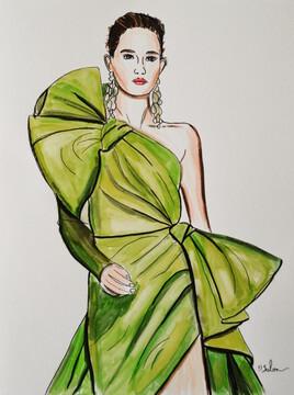 Robe Élie Saab, haute couture, printemps été 2020