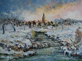 Village lorrain en hiver