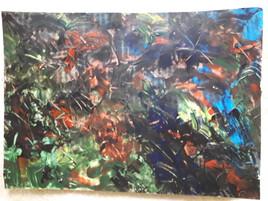 Dessin contemporain acrylique format A4