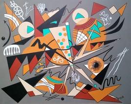 Clin d'Oeil Contemporain à Kandinsky Composition IV