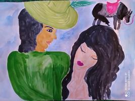 Bellinda  VIII aquarelle feutres design