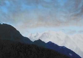 Le Mont-Blanc depuis Sallanches