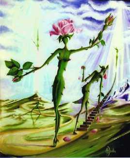 chemin de vie d'une rose