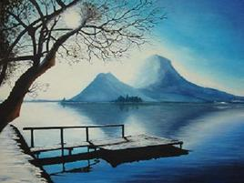 Lac d Annecy en Hiver